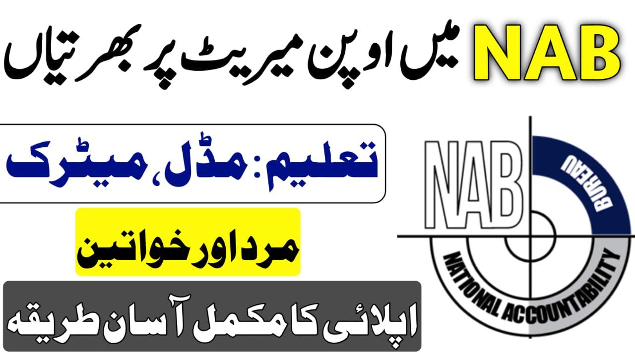 NAB jobs 2021-National Accountability Bureau Jobs 2021