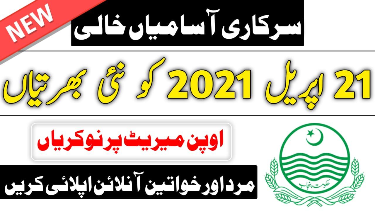 latest govt jobs in Punjab 2021 (45+ Posts)govt jobs in Punjab 2021/Apply Now Online