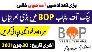 Latest Jobs in Bank of Punjab 2021 Apply Online – BOP Jobs 2021