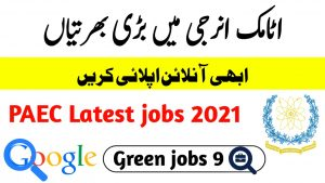 PAEC jobs 2021 online apply