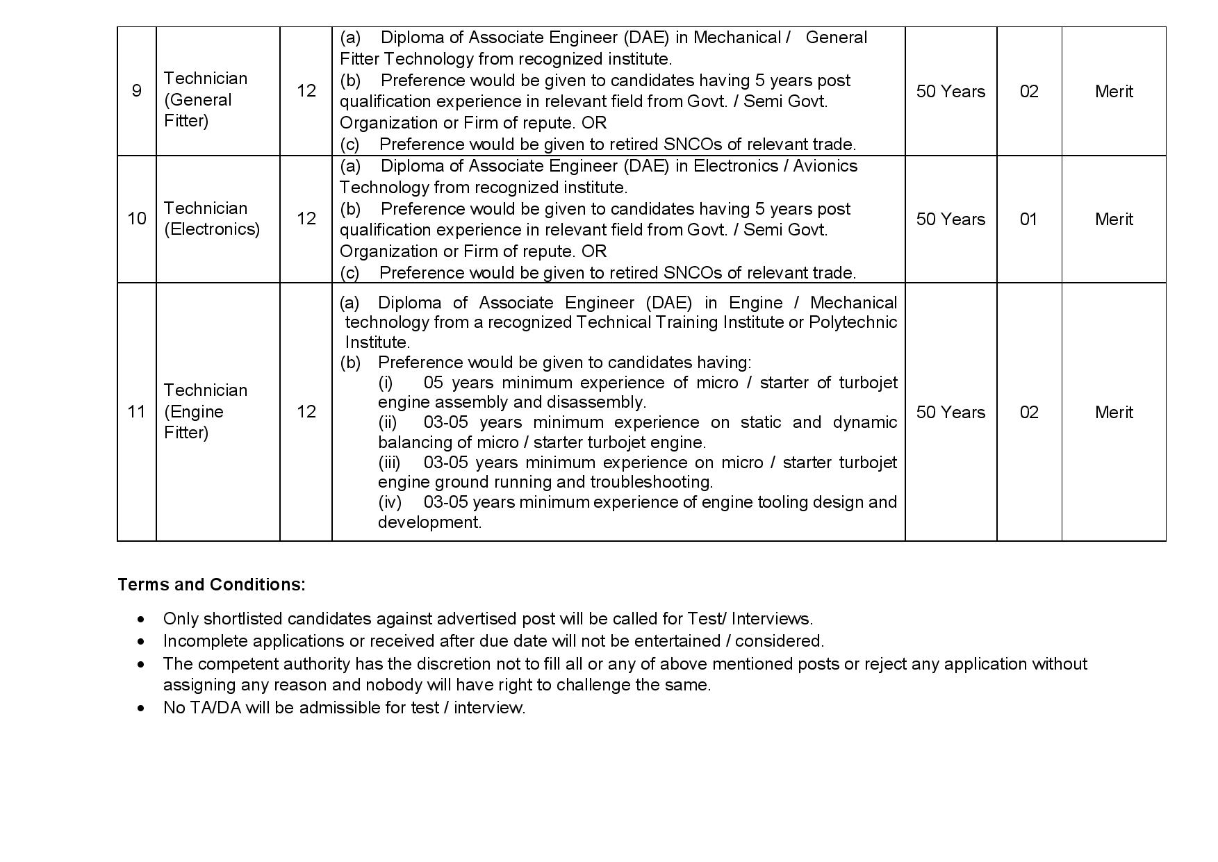 PAC Kamra Jobs 2021  Pakistan Aeronautical Complex jobs 2021