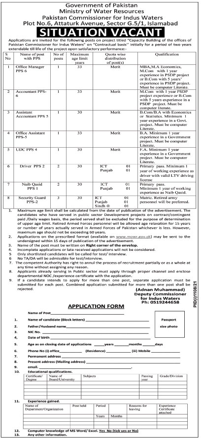 Latest Government Jobs in Pakistan 2021
